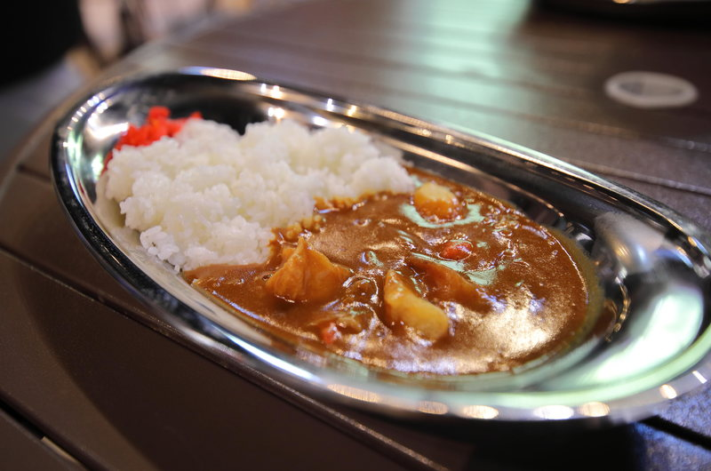 Japanese curry, quite different from that in India and Britain. A staple of modern Japanese food.