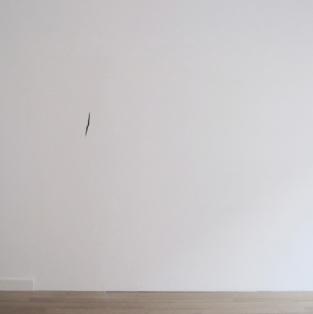 Tapage   , drawing engraved on a wall, recorded sound, 2013     Listen