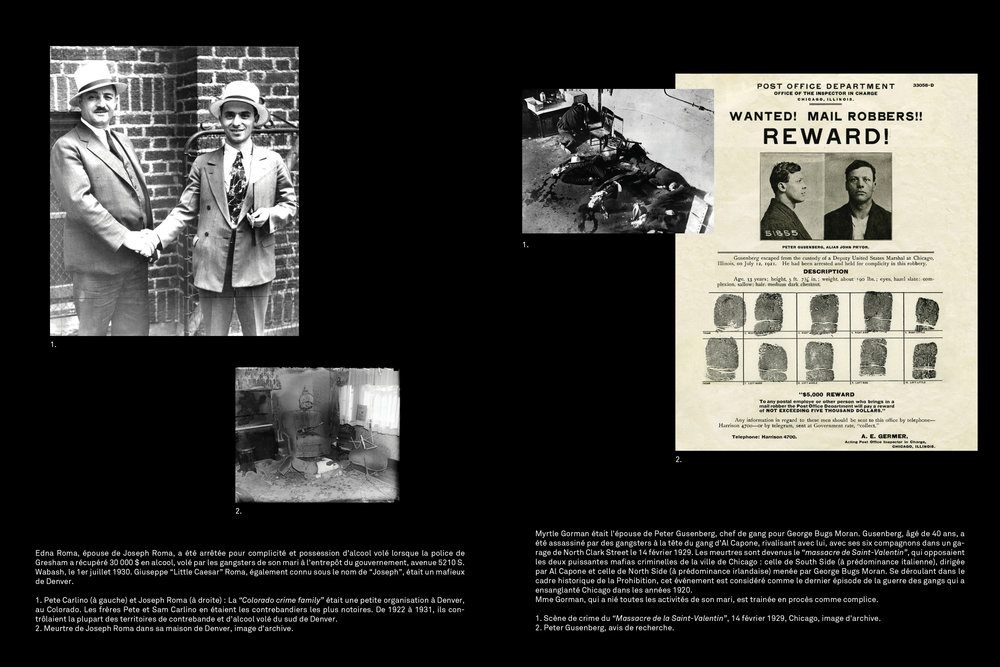 Researches on each case of each woman, documents, Ebay items, archive pictures