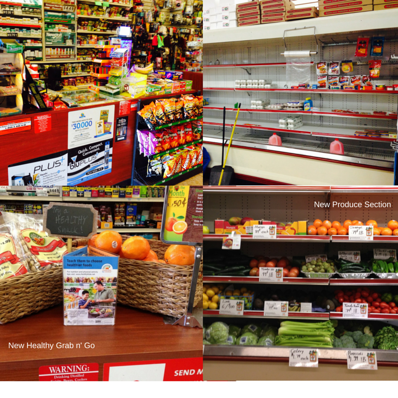 Healthy changes at the cash register and a brand new produce section.