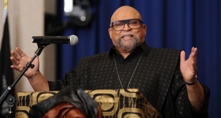 Dr. Maulana Karenga, a professor in the Department of Africana Studies at California State University, Long Beach  (Image borrowed from the LA County African American Employees Association)