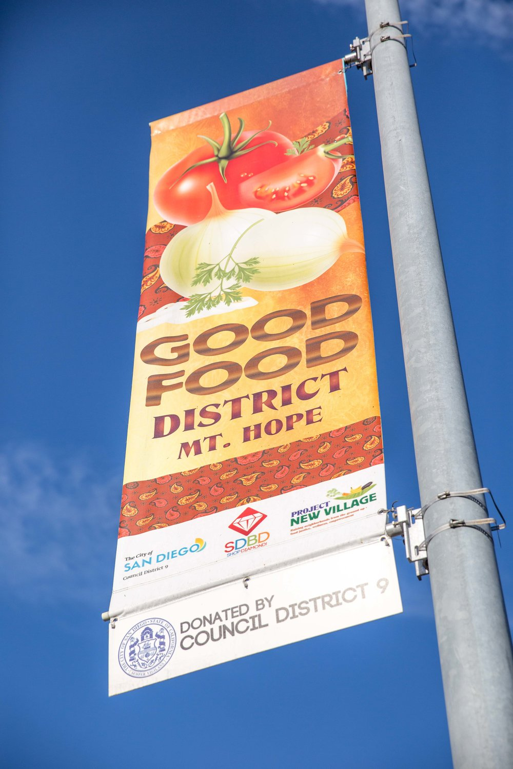 project new village's Good Food District inspires collective agency and promotes food security at a neighborhood level. Urban agriculture in the Southeast San Diego community of Mt. Hope is helping increase access to healthy food.
