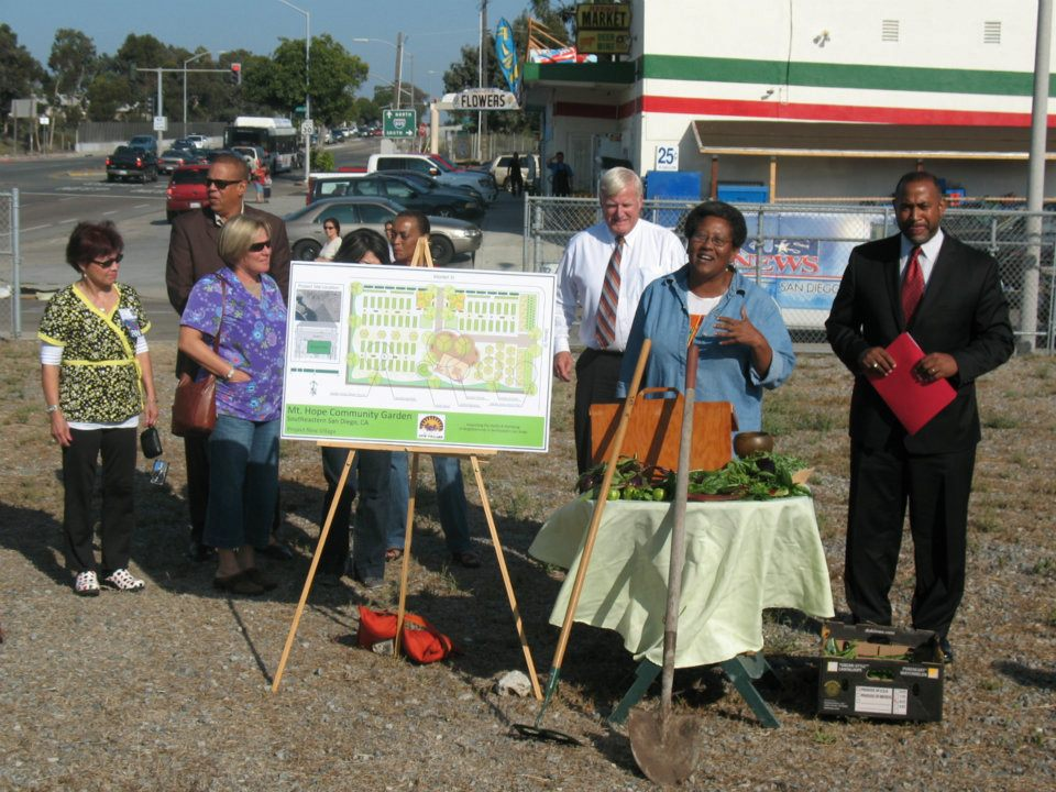 Mt Hope Community Garden Groundbreaking