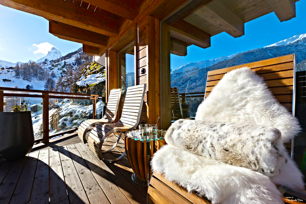 Terrace with View of Matterhorn