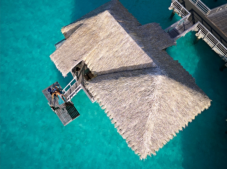 Aerial view of Overwater Villa