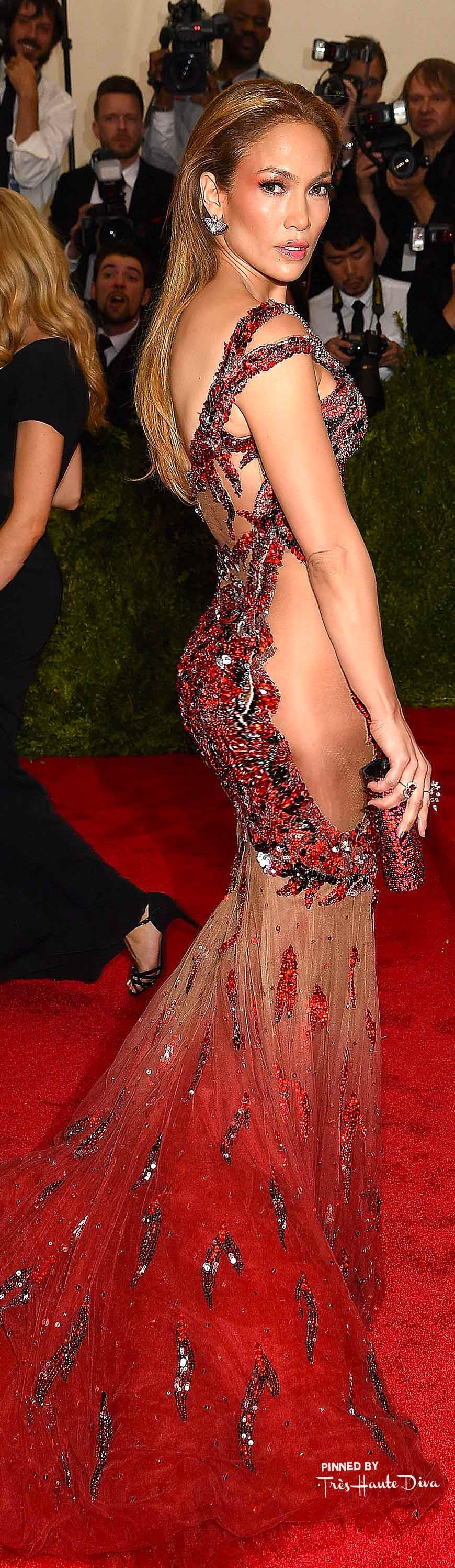 Jennifer Lopez in Custom Versace         Getty Images/ Dimitrios Kambouris