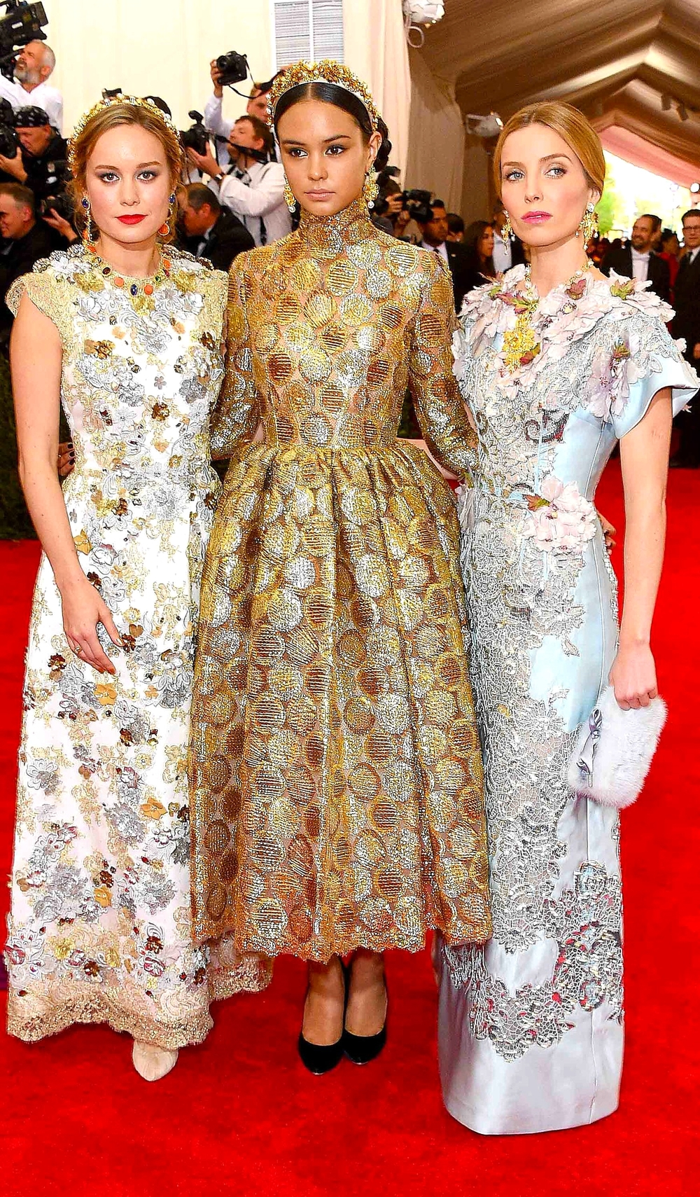 Brie Larson, Courtney Eaton and Annabelle Wallis        Getty Images/ Larry Busacca