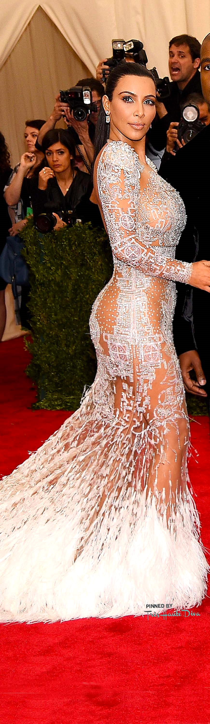 Kim Kardashian in Roberto CavalliGetty      Images/ Dimitrios Kambouris
