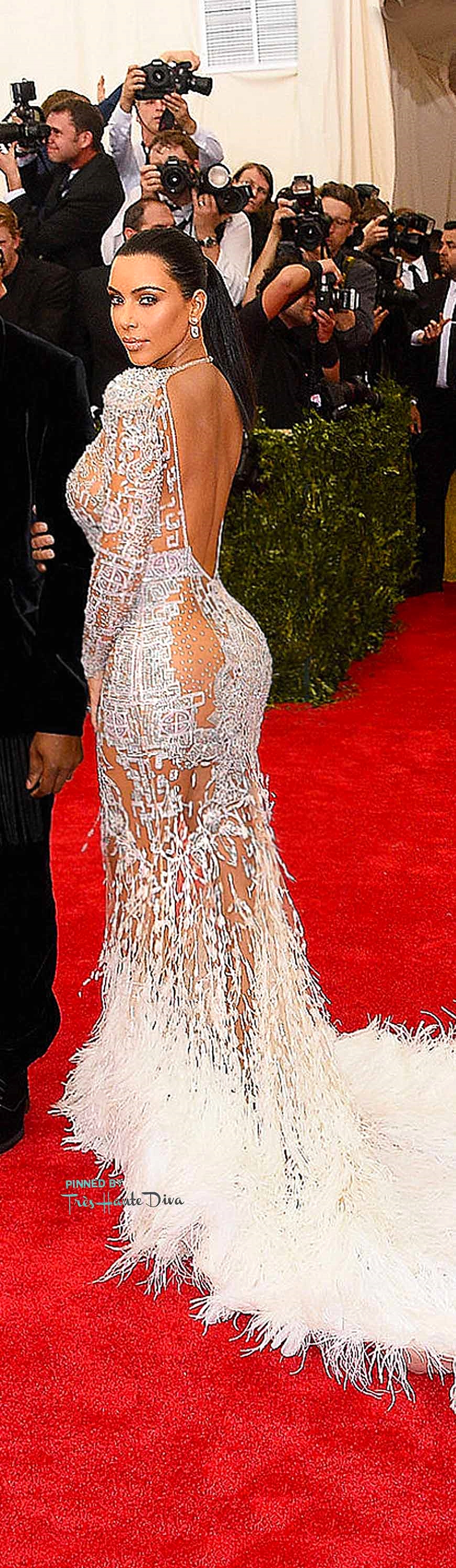 Kim Kardashian in Roberto Cavalli          Getty Images/ Larry Busacca