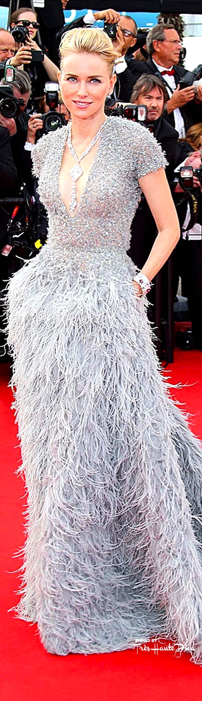 Naomi Watts, in an Elie Saab Couture gown