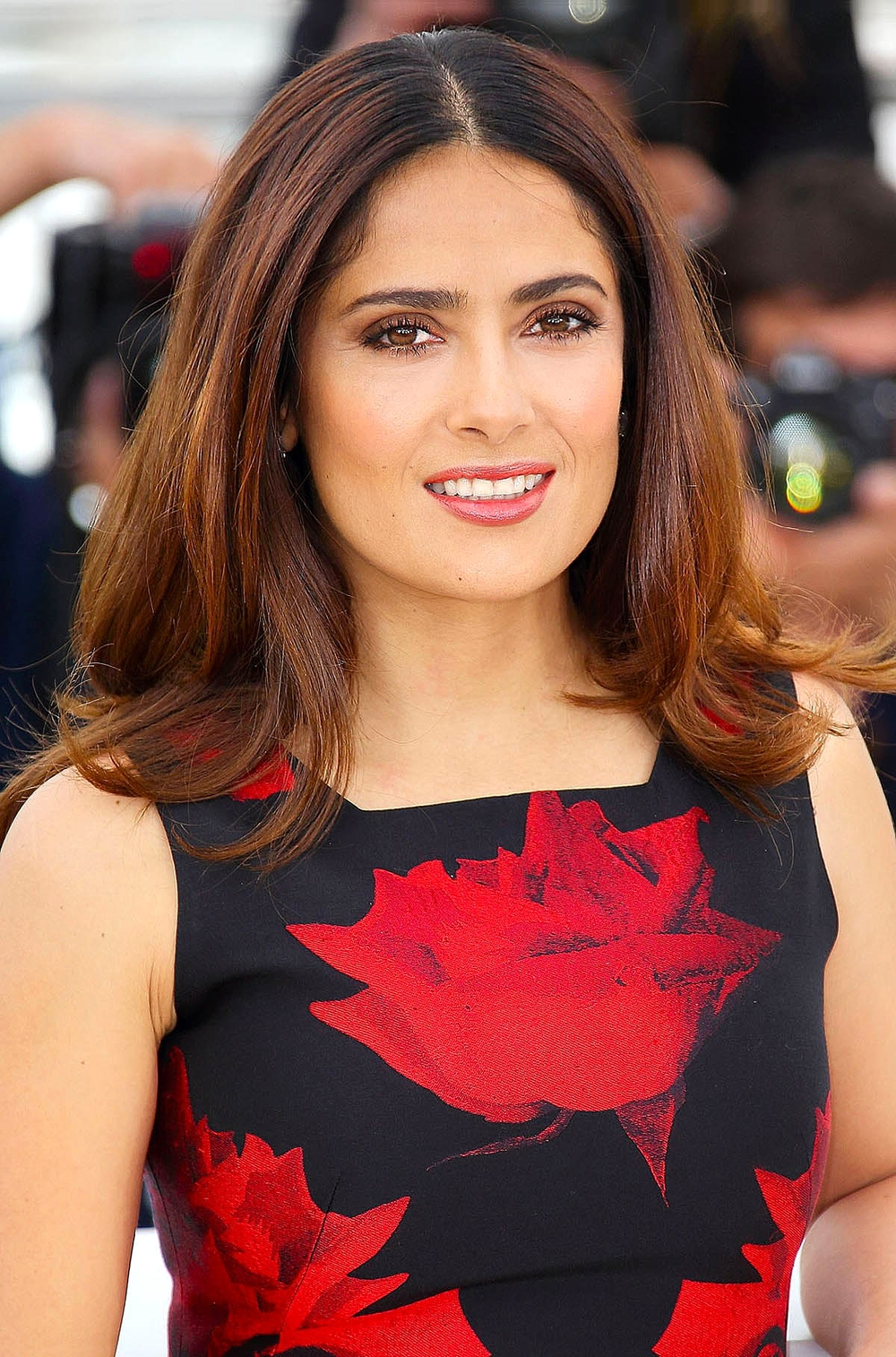 Salma Hayek at the photocall for 'Tale Of Tales'                Photo by Getty