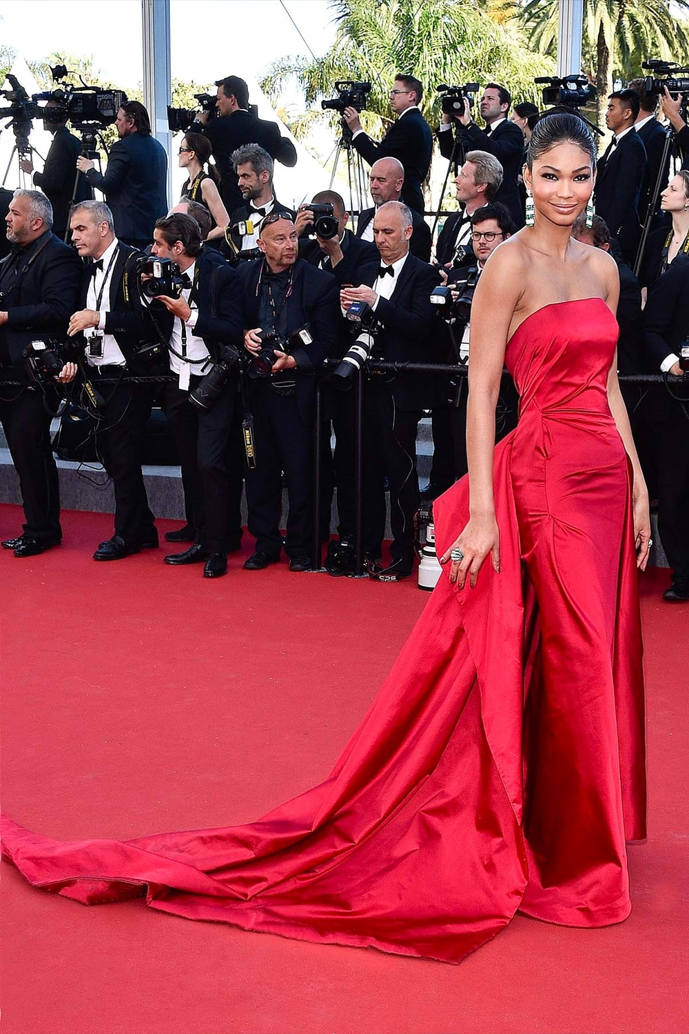 Chanel Iman in Donna Karan Atelier         vogue.co.uk/  Getty