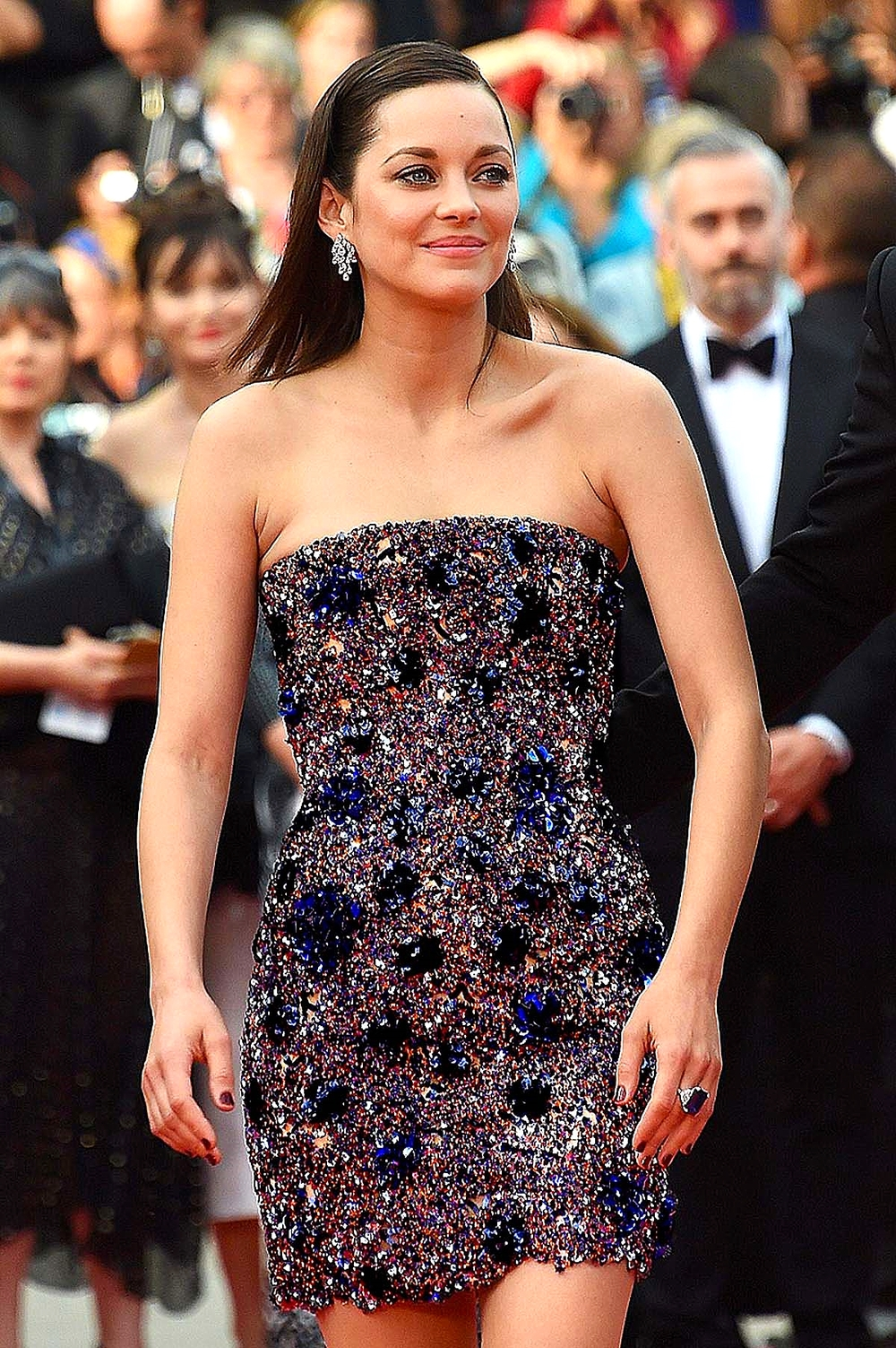 Marion Cotillard in Dior Couture with Chopard jewels                                         dailymail.co.uk