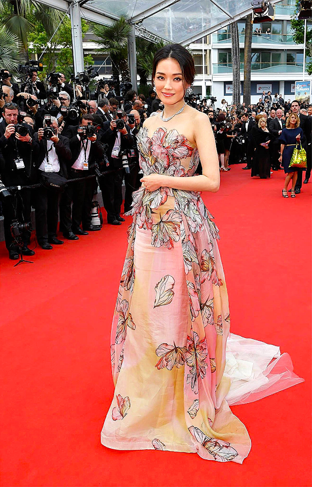 Taiwanese actress Shu Qi  in Ellie Saab Couture                          eliesaabworld/ facebook.com