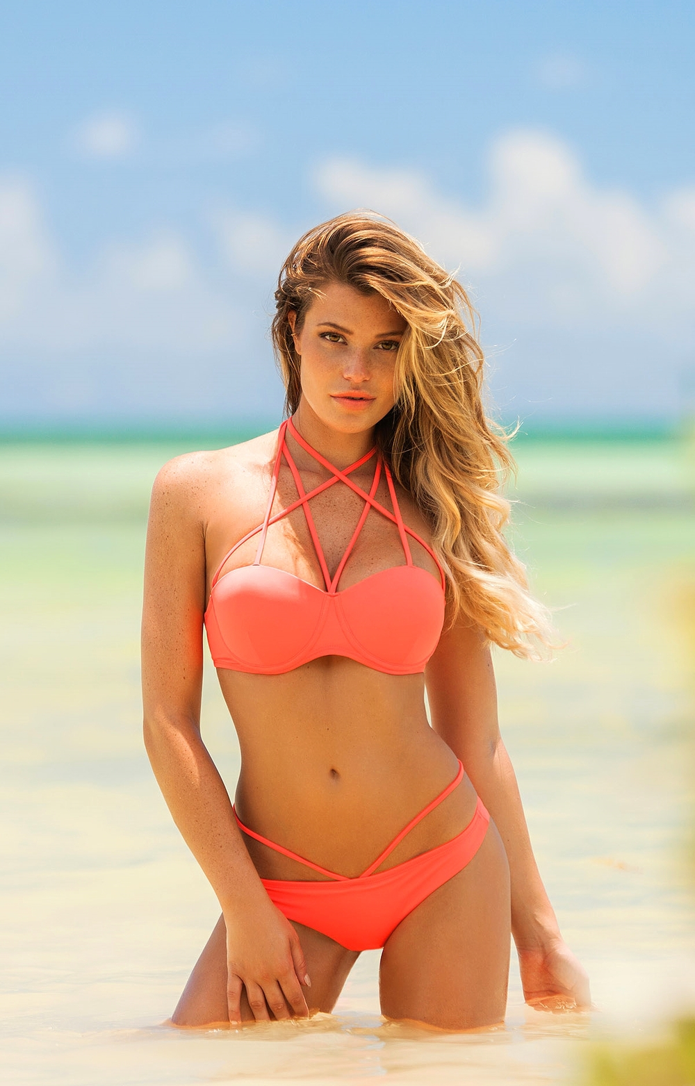 Calavera Bikini Coral