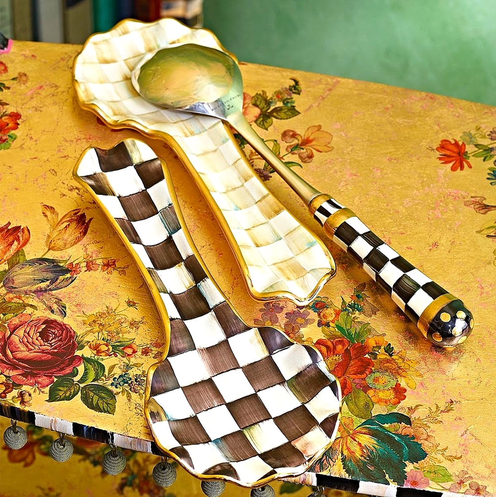 Courtly Check & Parchment Check Spoon Rest
