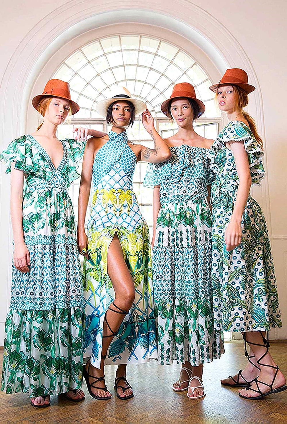 057efb50c0d The designer sent out a lineup of dresses covered in embroidery and other  needlework done in a summer garden color palette inspired by the images of  Robert ...