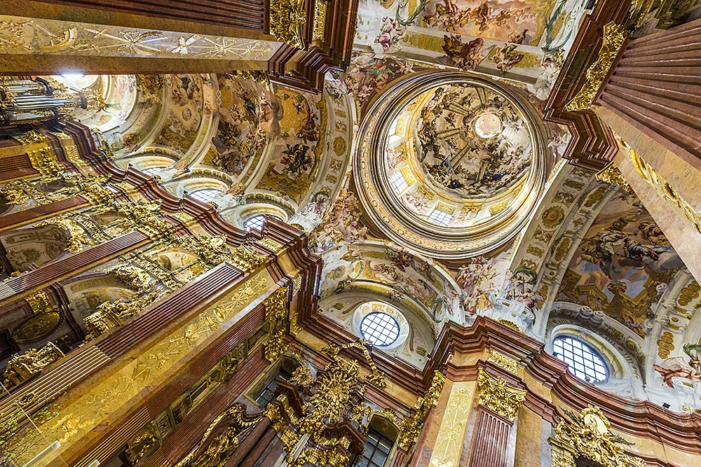 Ceiling of Baroque Church, Melk Abbey, Melk, Austria