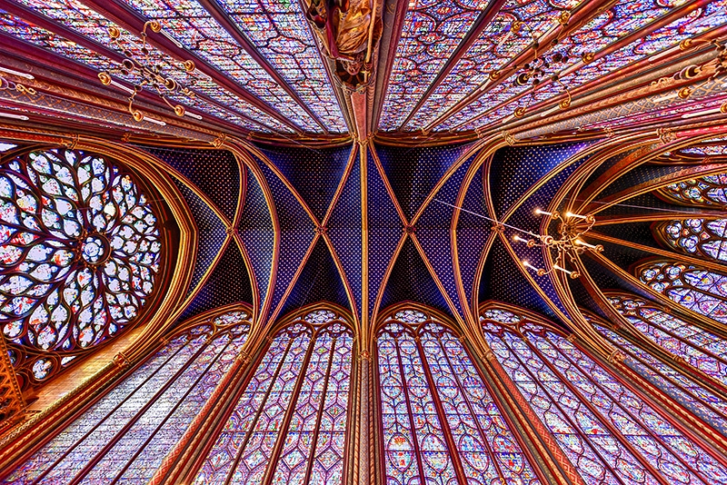 The gothic Royal chapel, Sainte-Chapelle, Paris, France