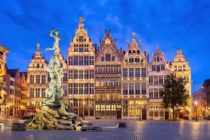Guildhouses, Grotemarkt, Antwerp, Belgium