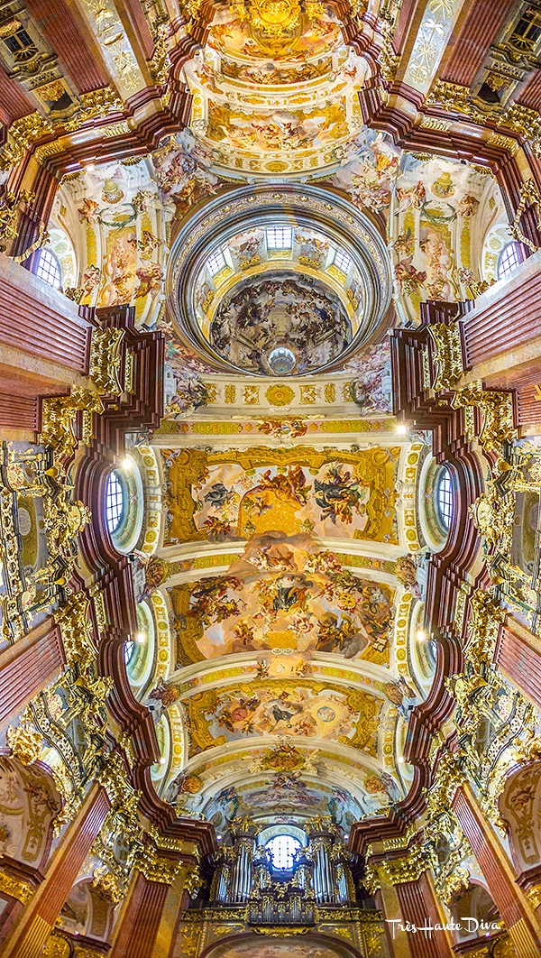 Rococo ceiling of St. Peter and Paul Church, Melk Abbey, Melk, Austria