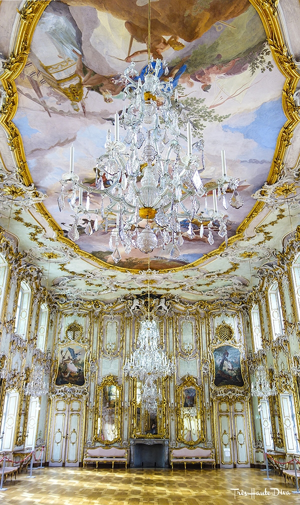Rococo ball room in Schaezlerpalais, Augsburg, Germany