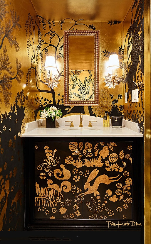 De Gourney's San Francisco showroom, powder room