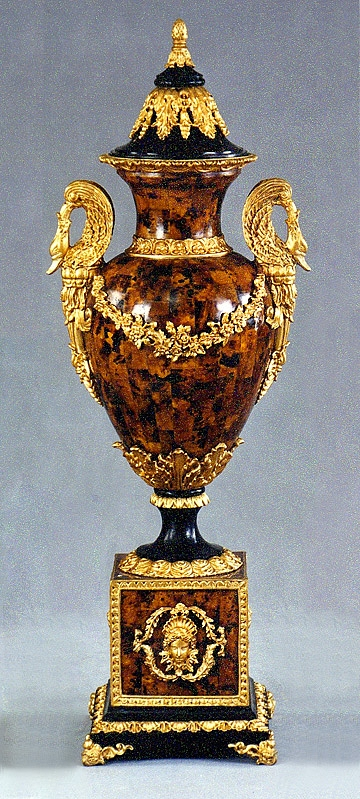 Brown Shell Hand Carved Urn, Naurelle