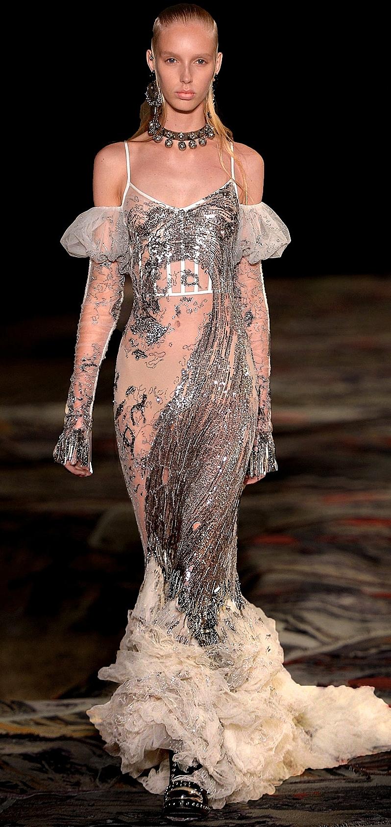 Sarah Burton's mermaid finale gown,  Alexander McQueen Spring 2017