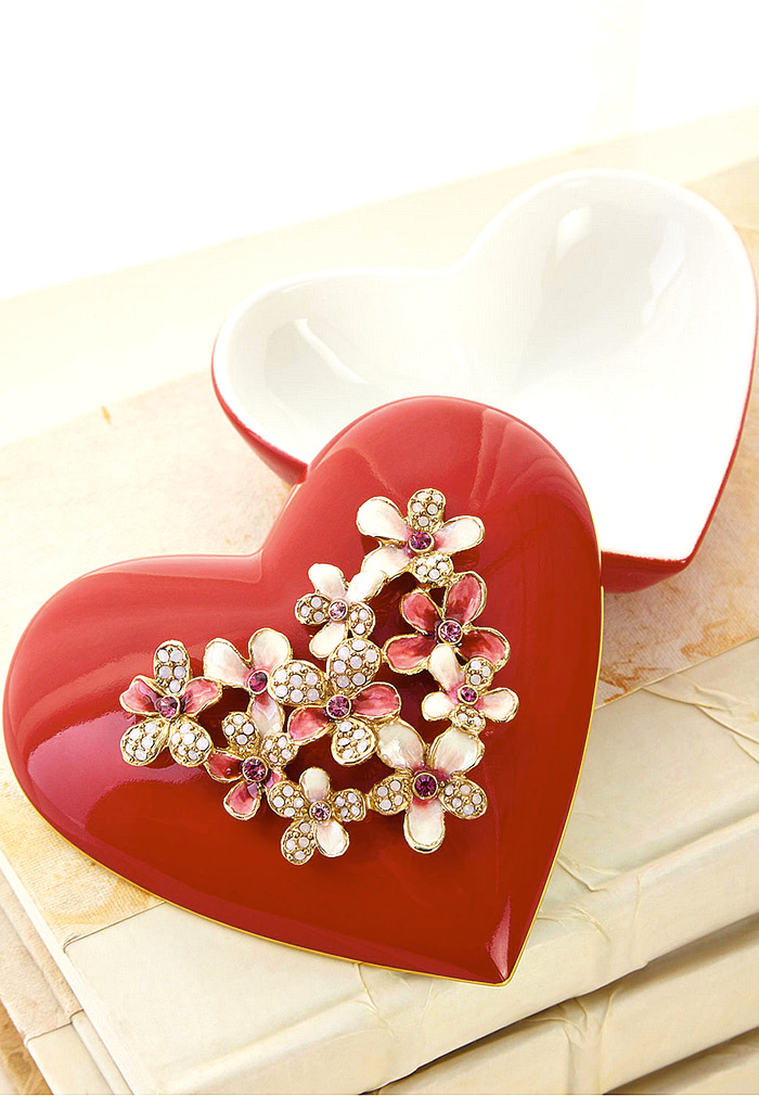 Jay Strongwater Bouquet Heart Box