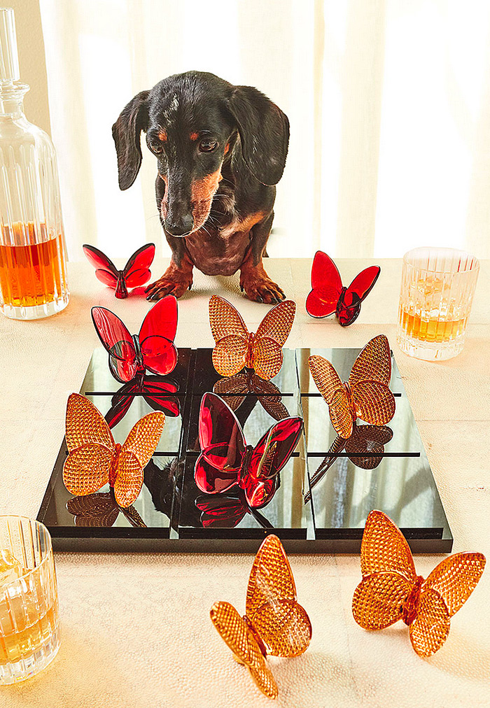Baccarat Butterfly Tic Tac Toe Set