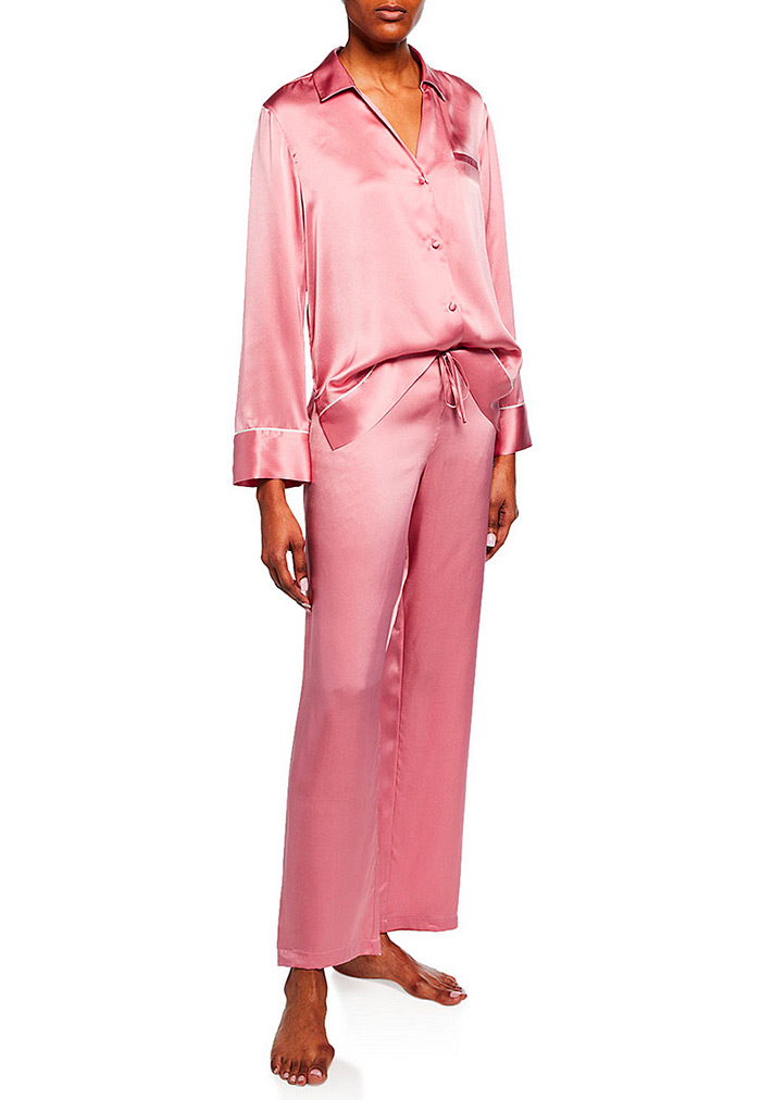 Josie Natori Silk Spread-Color Pajama Set