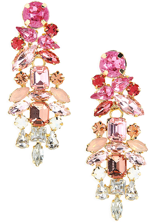 STELLA + RUBY Mini Dynasty Crystal Drop Earrings