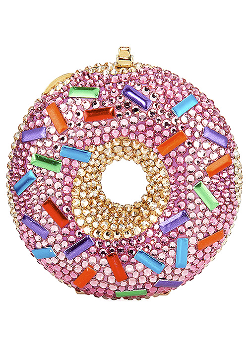 Judith Leiber Couture Strawberry Donut Pill Box