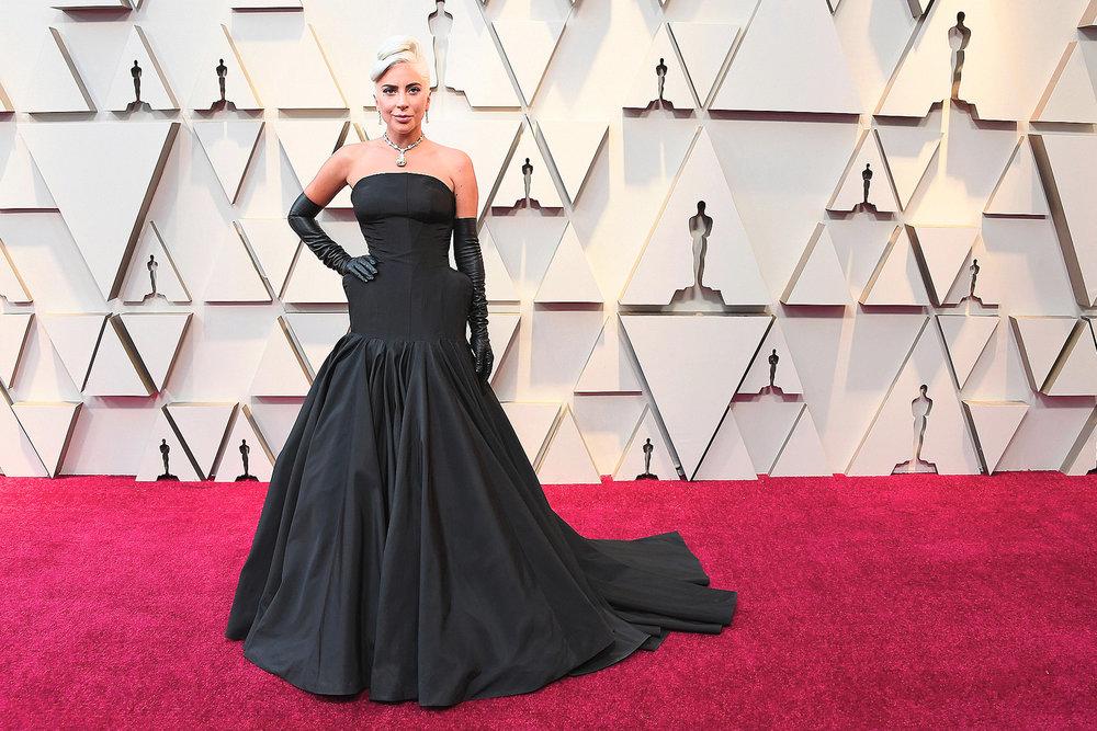 Lady Gaga in a custom Alexander McQueen