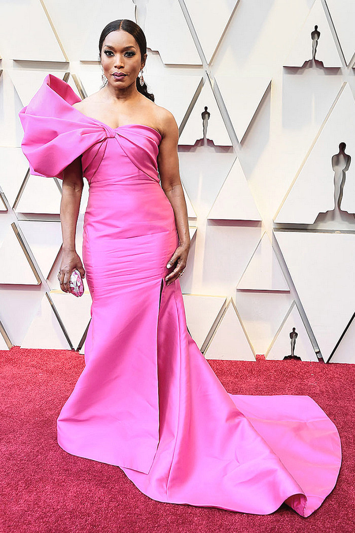 Angela Bassett in custom Reem Acra