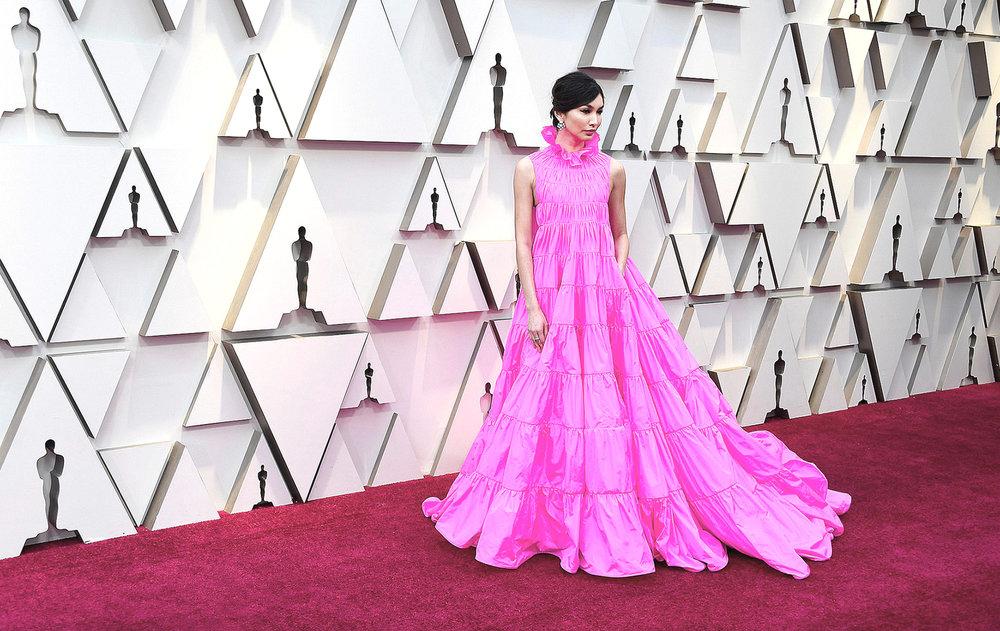 Gemma Chan in Valentino Haute Couture