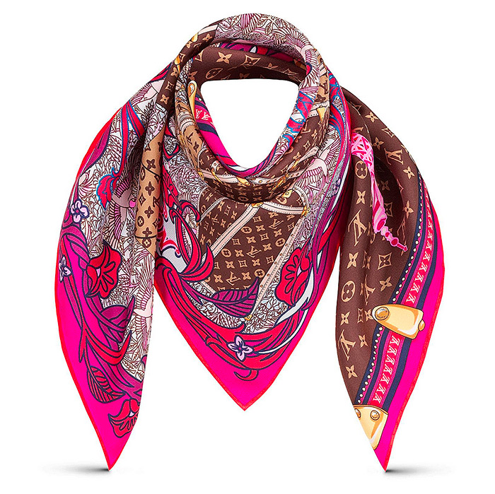 Louis A Paris Square 27.5 x 27.5 inches in Fuchsia 100% silk $370.00