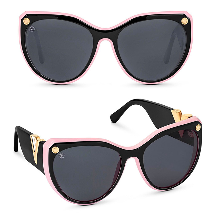 My Fair Lady Sunglasses $605.00 in Black/Pink, a contemporary update of an iconic model