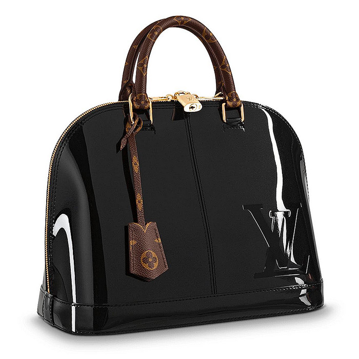Alma PM mirror patent leather & monogram canvas 12 x 9.5 x 5.9 inches $2,470.00