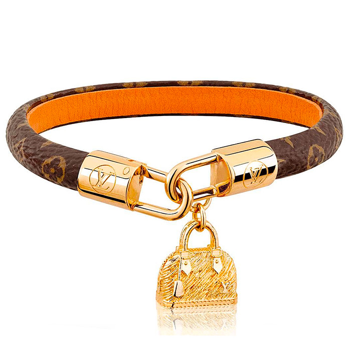 Alma Bracelet $345.00 adorned with a charm evoking the Maison's iconic Alma bag
