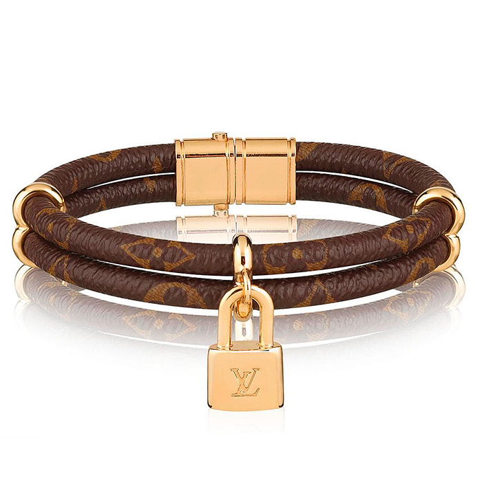 Keep it Twice Monogram Bracelet $405.00 Monogram canvas and golden metal
