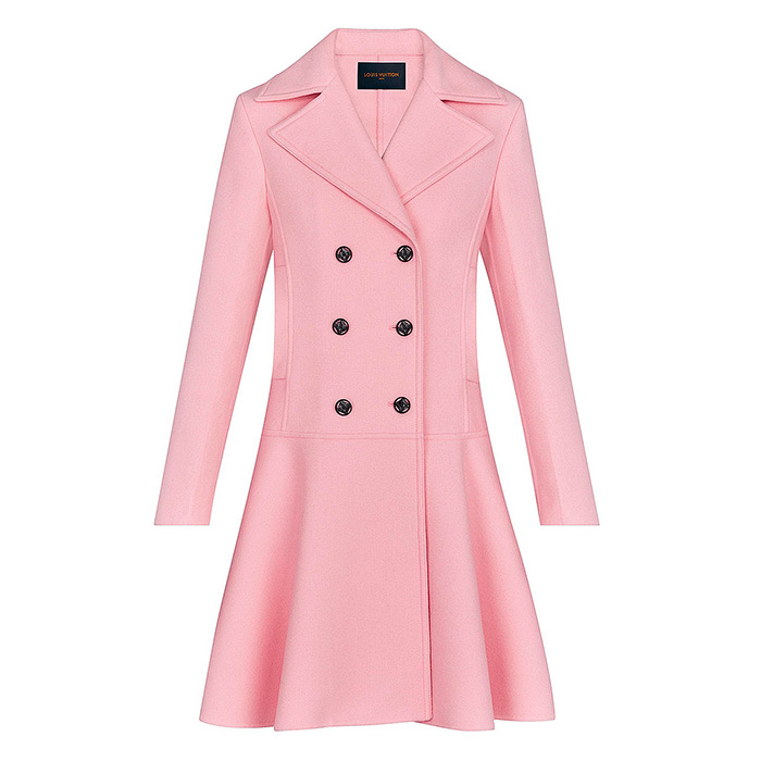 Frill Peacoat $5,600.00, Rose dragée/pink, 100% Cashmere