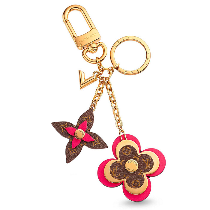 Blooming Flowers Bag Charm and Key Holder $435.00 individual charms crafted from Monogram coated canvas, Epi leather and metal