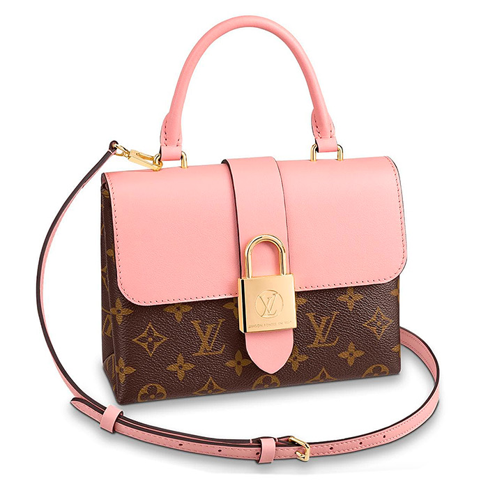 Locky BB in Rose Poudré Pink $1,650.00 L 7.9 x H 6.3 x W 2.8 inches, Monogram coated canvas & smooth cowhide leather