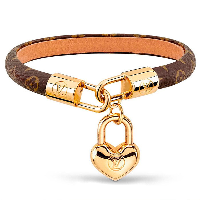 Crazy In Lock Bracelet $345.00 in calf-lined monogram canvas