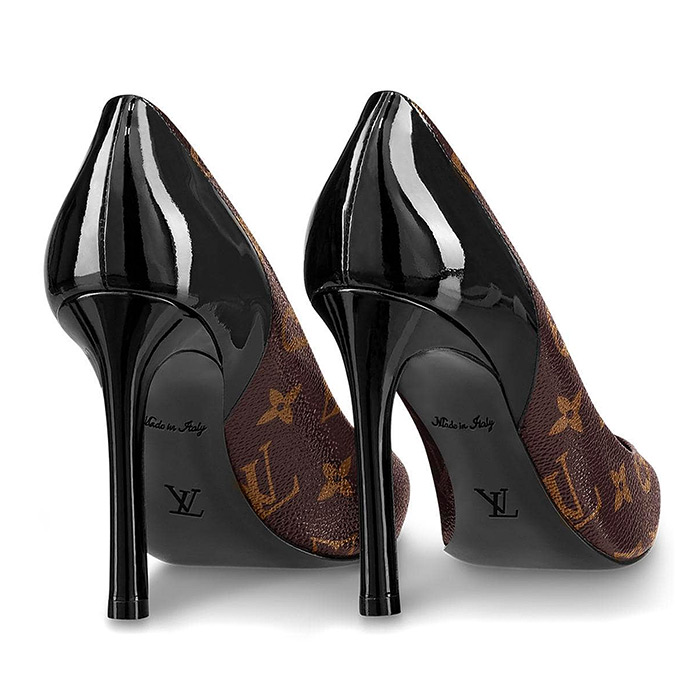 Cherie Pump $715.00 Black, Patent Monogram canvas and patent calf leather, 10 cm / 3.9 inch heel