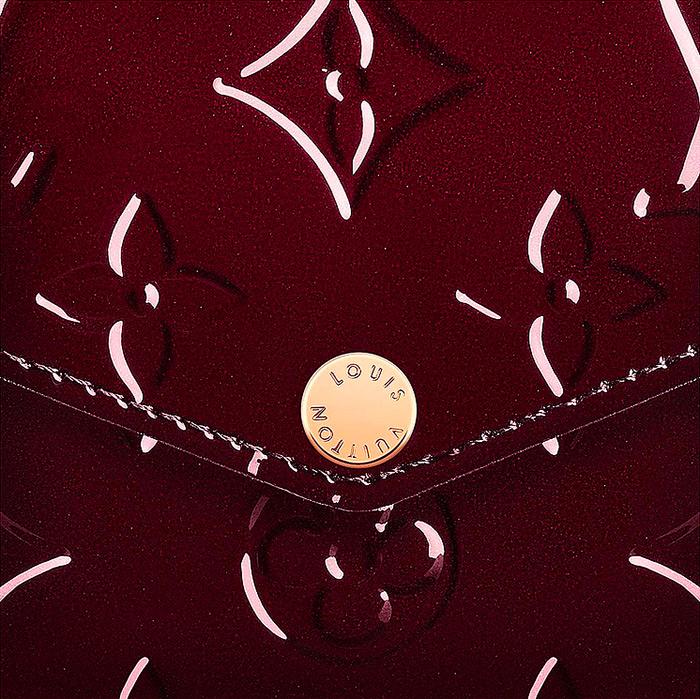 Pochette Félicie in Amarante detail