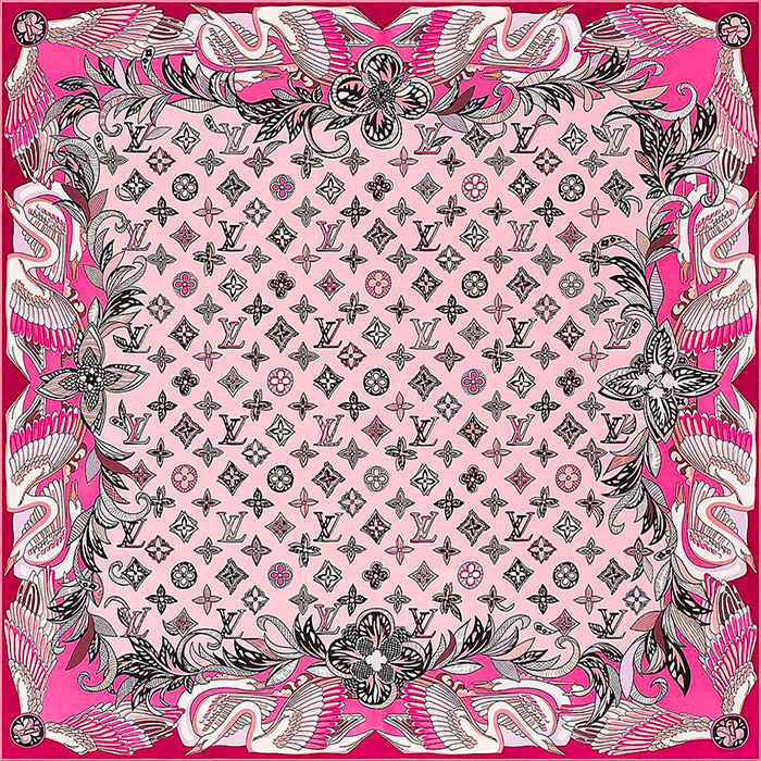 Innocence Square 27.5 x 27.5 inches in Rose 100% silk $370.00