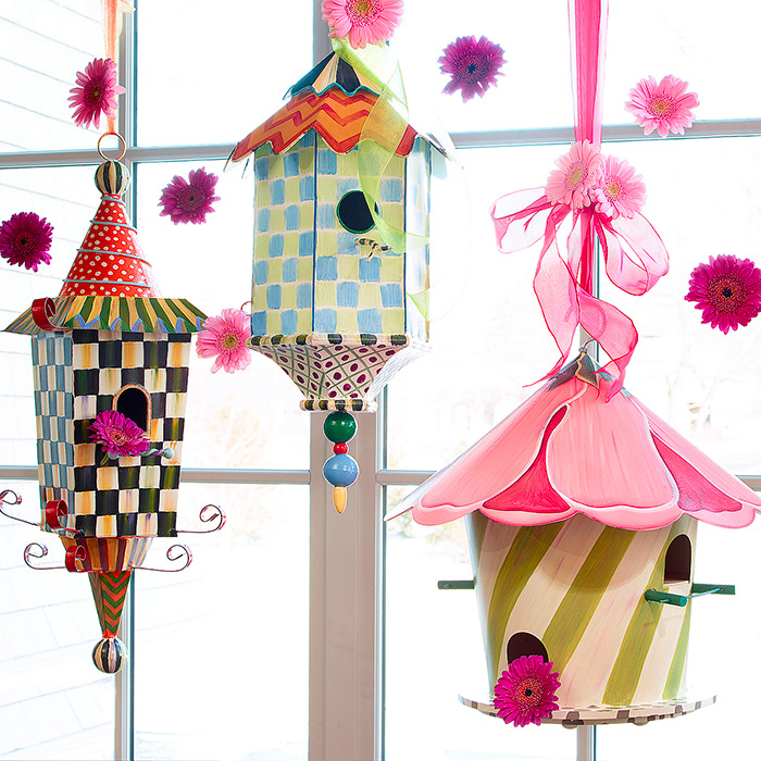 Hollyhock, Pagoda  & Flyer's Folly Birdhouse